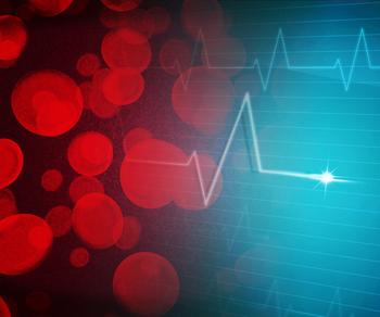 Glóbulos rojos sobre un ECG